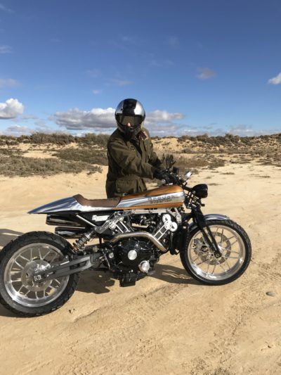 Brough Superior Shooting in Bardenas Reales Desert (Spain)